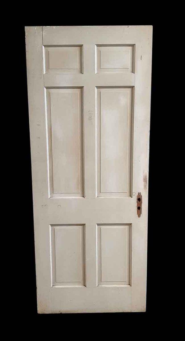 Standard Doors - Antique 6 Pane Painted Wood Passage Door 78.75 x 30