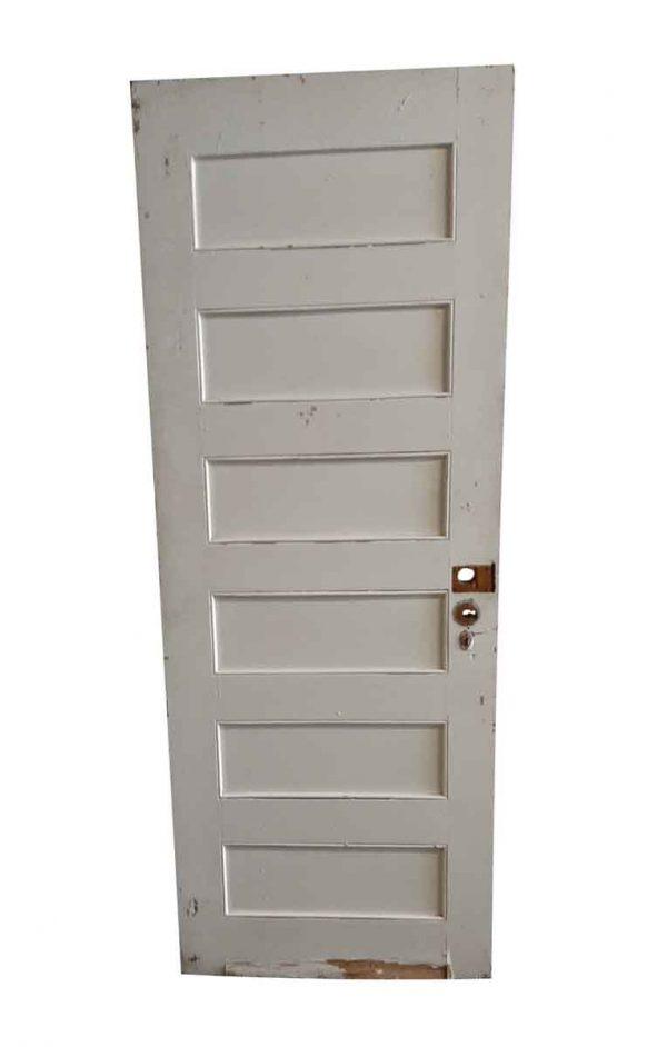 Standard Doors - Antique 6 Pane Wood Privacy Door 79.5 x 29.75