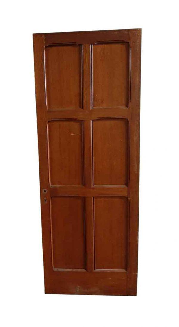 Standard Doors - Arts & Crafts 6 Pane Oak Passage Door 74.75 x 27.75