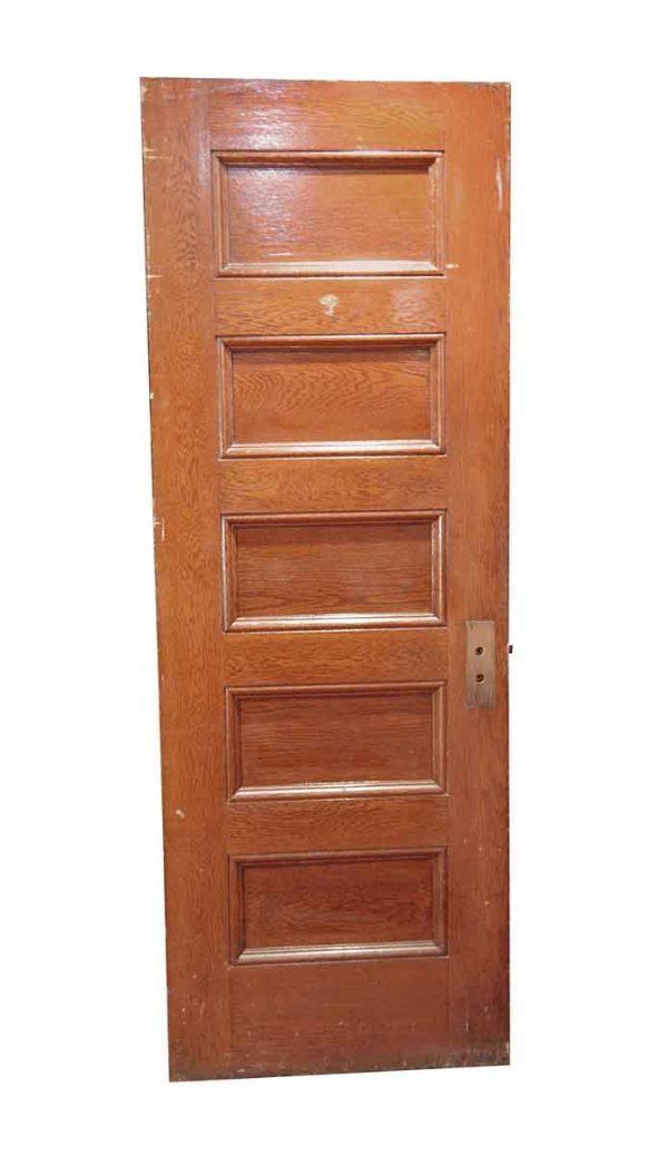 Standard Doors - Vintage 5 Panel Antique Wood Passage Door 84 x 30