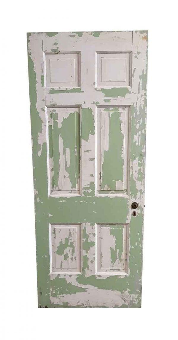 Standard Doors - Vintage 6 Pane Wood Painted Passage Door 79.5 x 32
