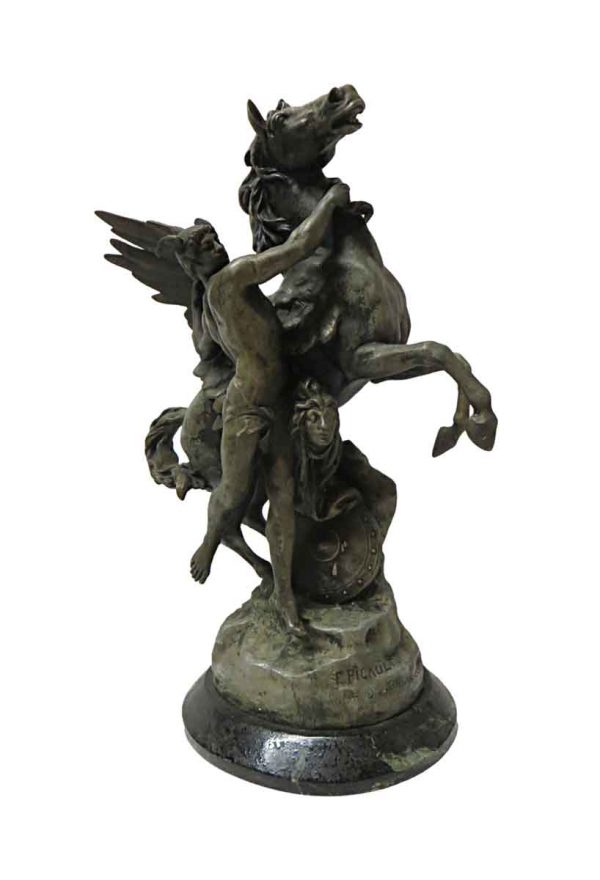 Statues & Sculptures - French Repro Perseus & Pegasus 1888 Statue