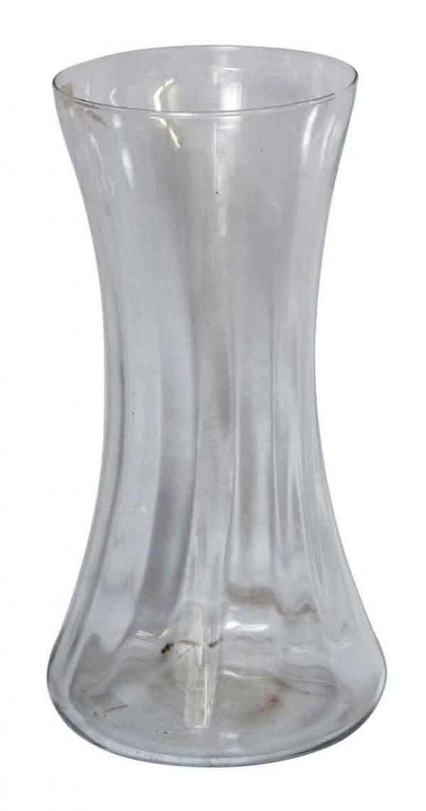 Vases & Urns - Vintage Tall Clear Italian Glass Vase