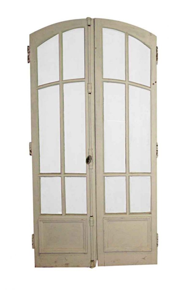 Arched Doors - Arched 6 Lites 1 Pane Wood Double Doors