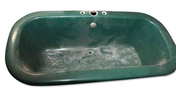 Bathroom - Salvaged Green 5 Foot Center Drain Tub