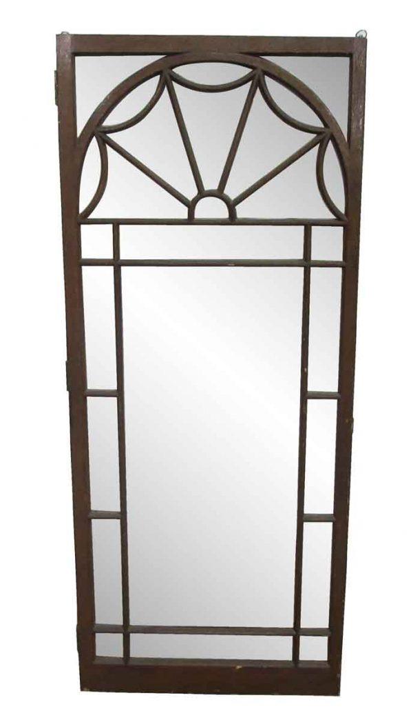 Cabinet Doors - Arts & Crafts Arch Glass Cabinet Door 61.75 x 26.25