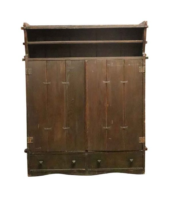 Cabinets - Early Arts & Crafts Oak Storage Cabinet