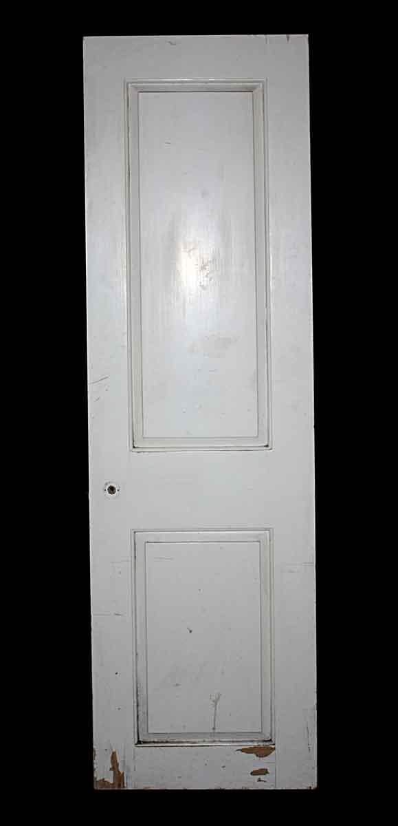 Closet Doors - Vintage 2 Panel White Wood Closet Door 72 x 24