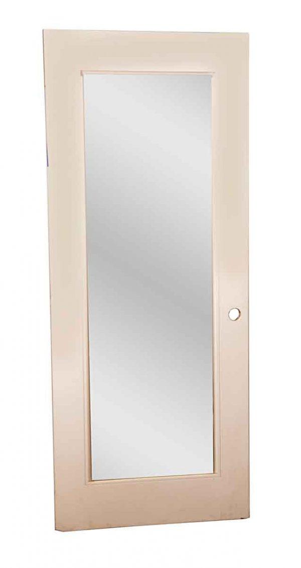 Closet Doors - Vintage Mirror Pane White Wood Closet Door 77.75 x 31.75