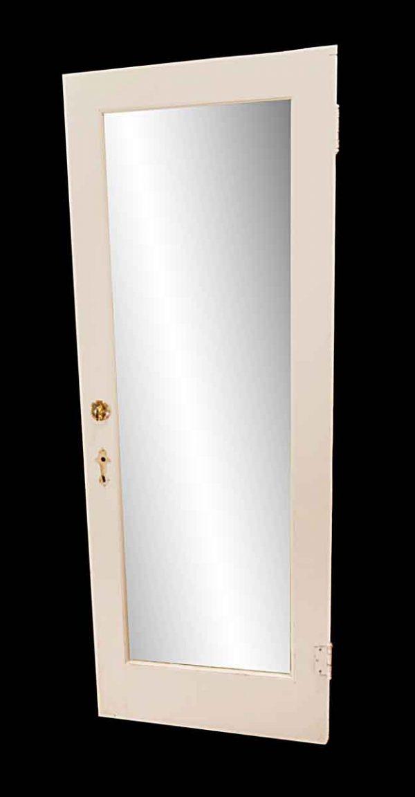 Closet Doors - Vintage Mirror Pane Wood Closet Privacy Door 79.25 x 29.75