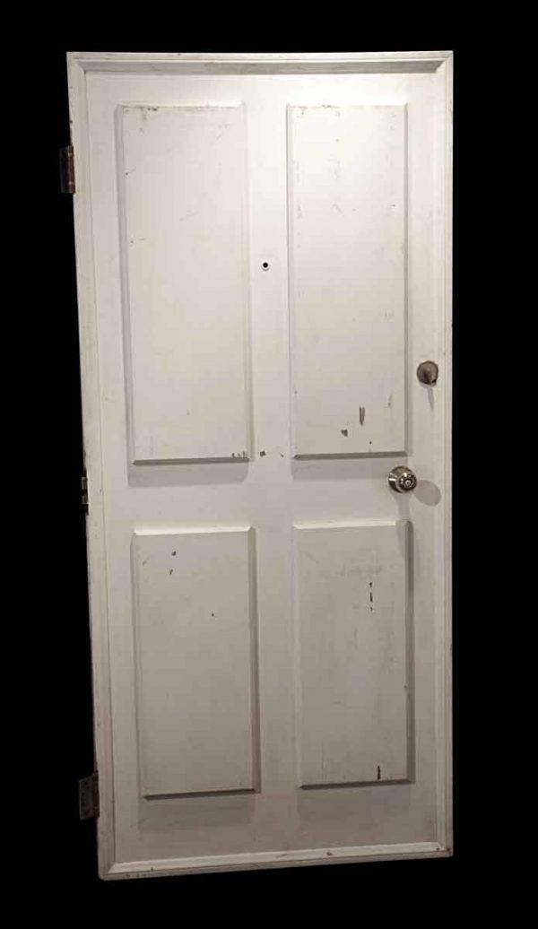 Commercial Doors - Antique 2 Pane Wood Apartment Door 78.375 x 35.75