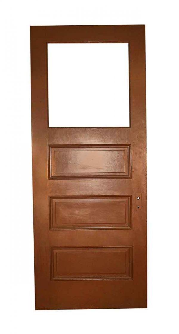 Commercial Doors - Antique 3 Pane 1 Lite Wood Office Door 89.25 x 35.75