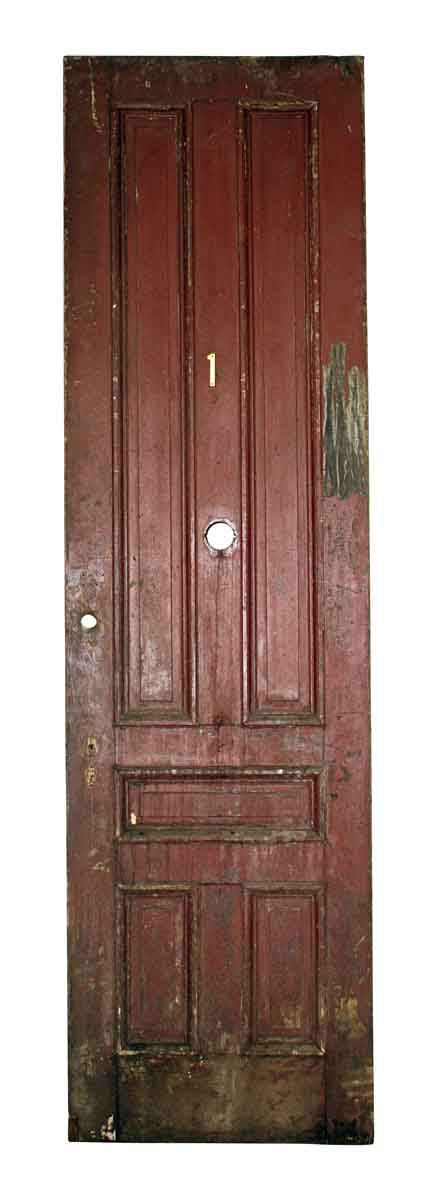 Commercial Doors - Antique 5 Pane Wood Apartment Door 107 x 29.75