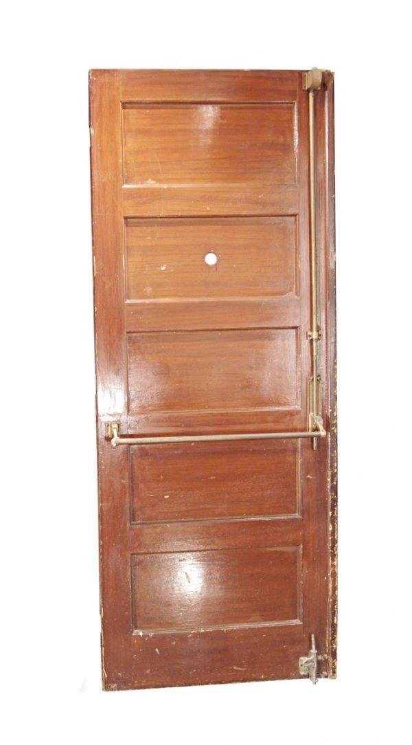 Commercial Doors - Antique 5 Pane Wood Commercial Door 83 x 32.375