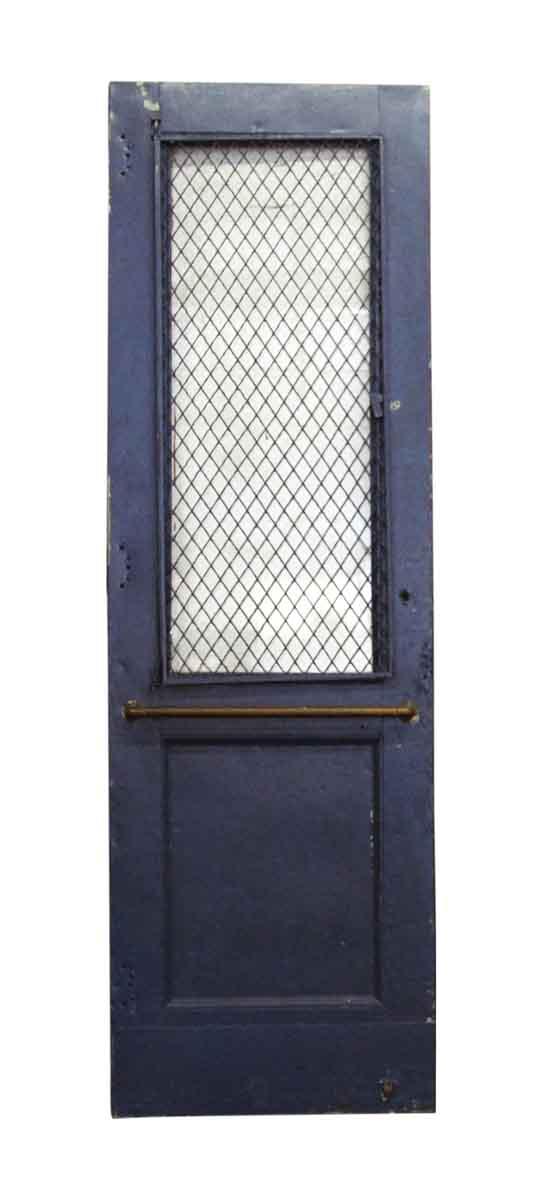 Commercial Doors - Antique Chicken Wire Lite Steel Commercial Door 95.5 x 29.5