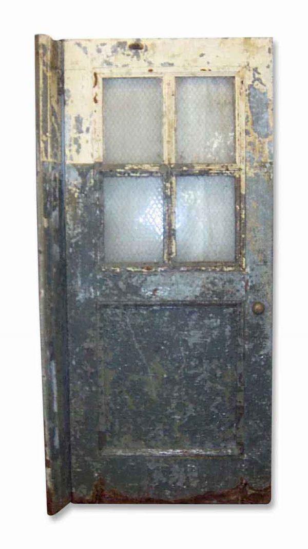 Commercial Doors - Antique Galvanized Steel Chicken Wire Commercial Door 81.5 x 35.375