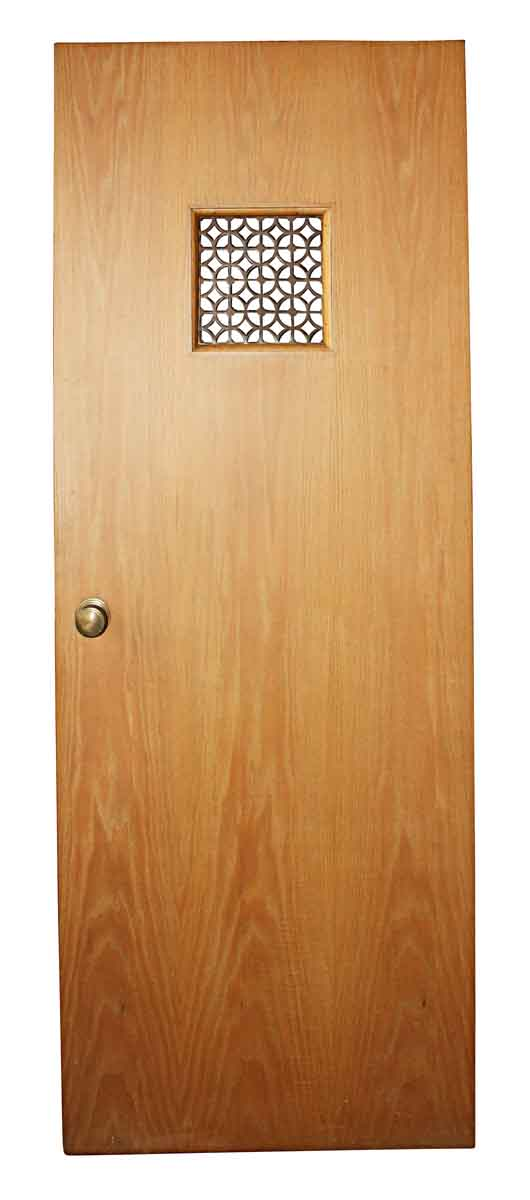Commercial Doors - Antique Grill Pane Oak Passage Door 77.5 x 30