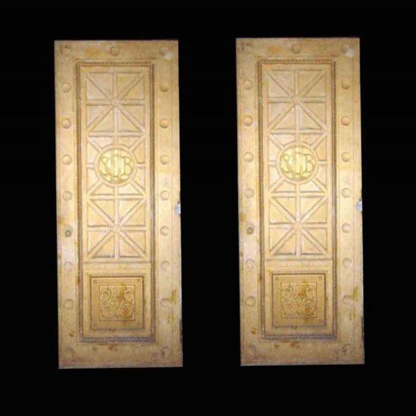 Commercial Doors - Long Island City Savings Bank Bronze Bank Double Doors 97.5 x 77