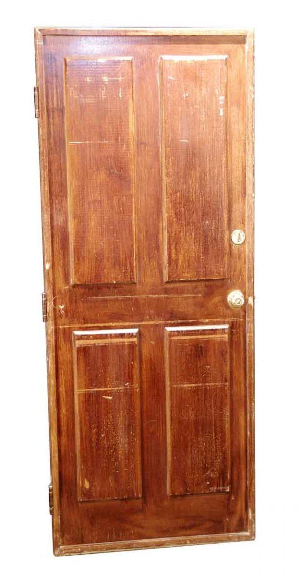 Commercial Doors - Vintage 4 Pane Wood Apartment Door 79 x 31.625