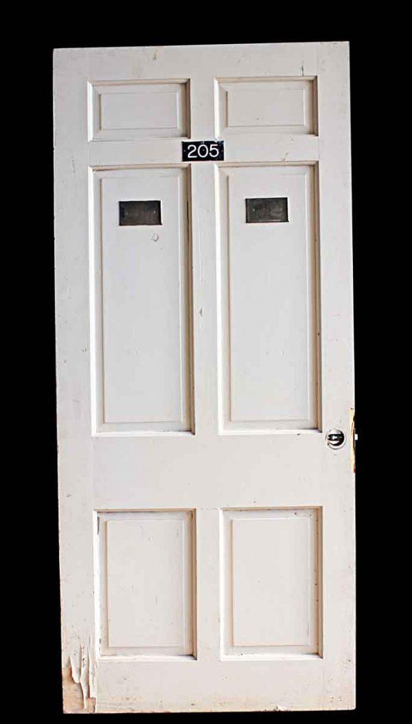 Commercial Doors - Vintage 6 Pane White Wood Apartment Door 83 x 36