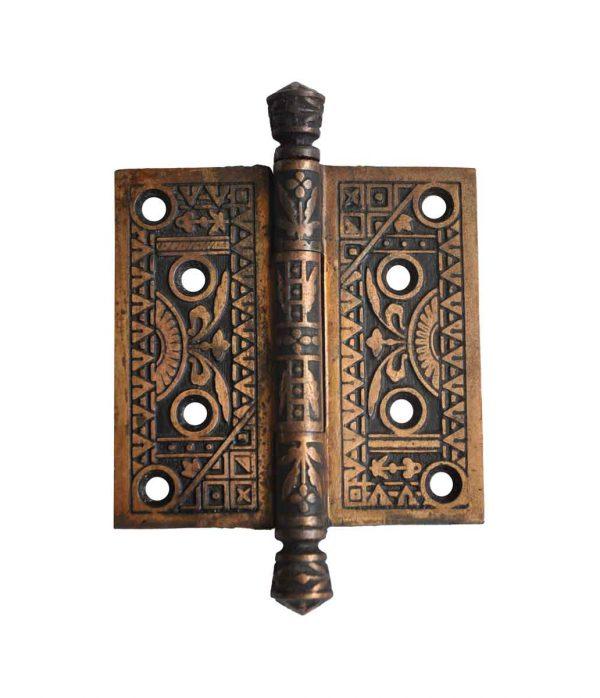 Door Hinges - Antique Bronze Plated Cast Iron 4 x 4 Aesthetic Door Hinge