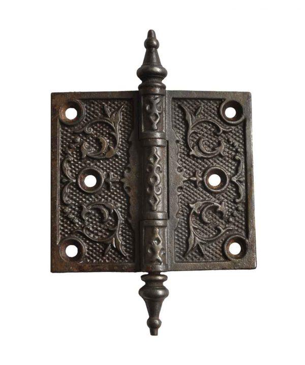 Door Hinges - Antique Victorian 3.5 x 4 Cast Iron Butt Door Hinge