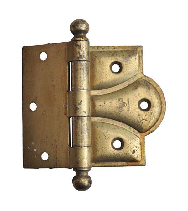 Door Hinges - Stanley 4.5 x 3.5 Brass Plated Steel Half Mortise Door Hinge