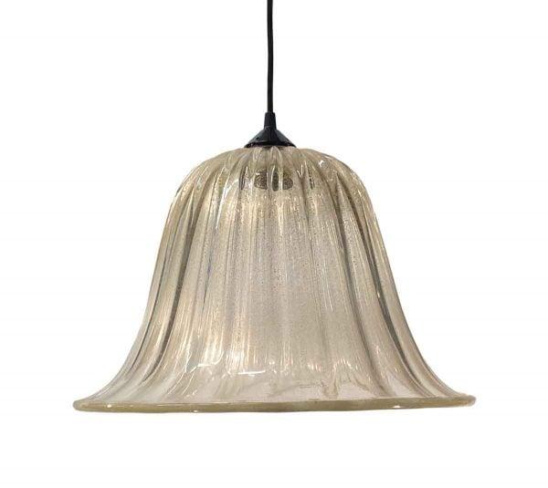 Down Lights - Modern Gold Flecks Murano Glass 16 in. Pendant Light