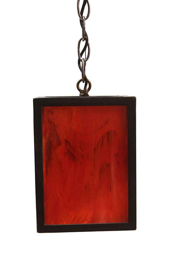 Down Lights - Modern Iron Lantern Pendant Light with Stained Glass
