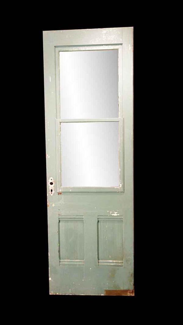 Entry Doors - Antique 2 Pane 2 Lite Swinging Porch Door 83.75 x 27.75