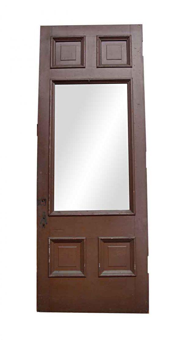 Entry Doors - Antique 4 Pane 1 Lite Entry Door 107.625 x 34.25