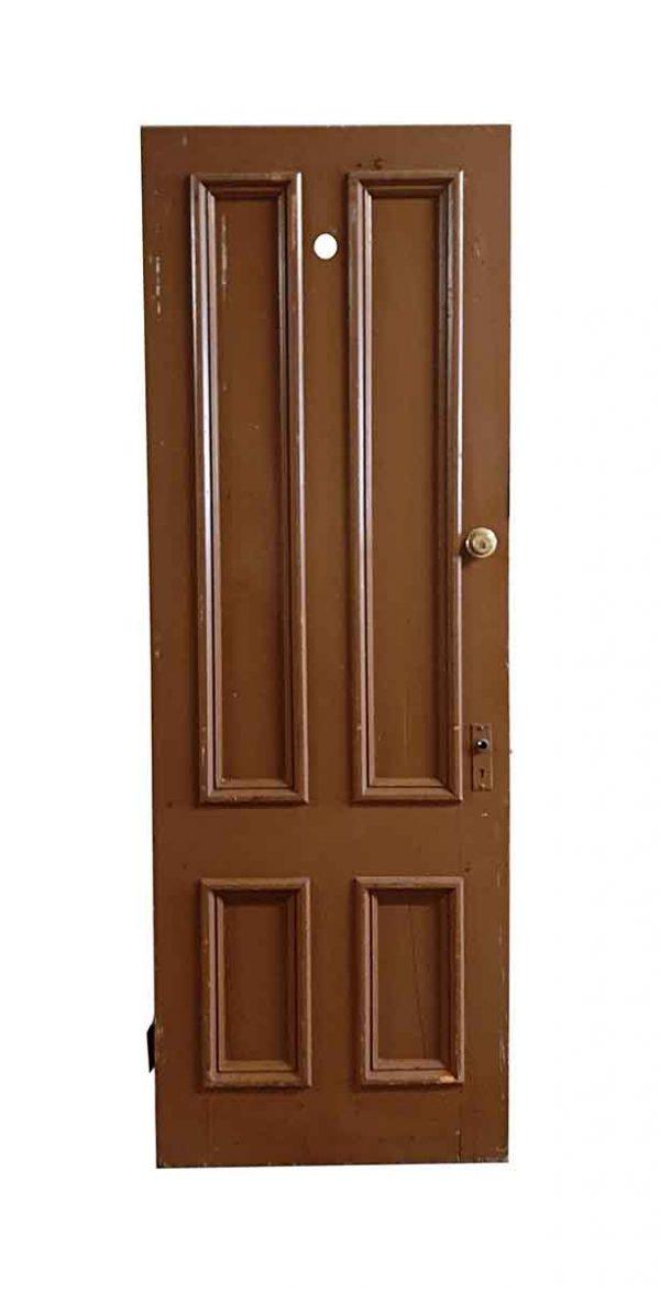 Entry Doors - Antique 4 Pane Wood Entry Door 86 x 29.875