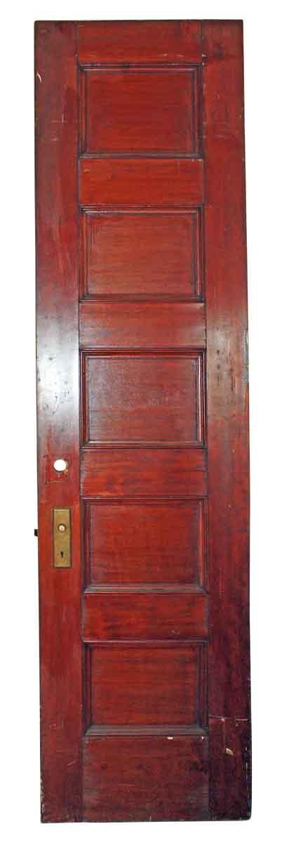 Entry Doors - Antique 5 Pane Wood Privacy Door 90.25 x 23.875