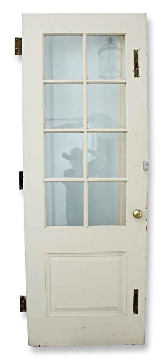 Entry Doors - Antique Half Glass Wood Entry Door 83.75 x 29.5