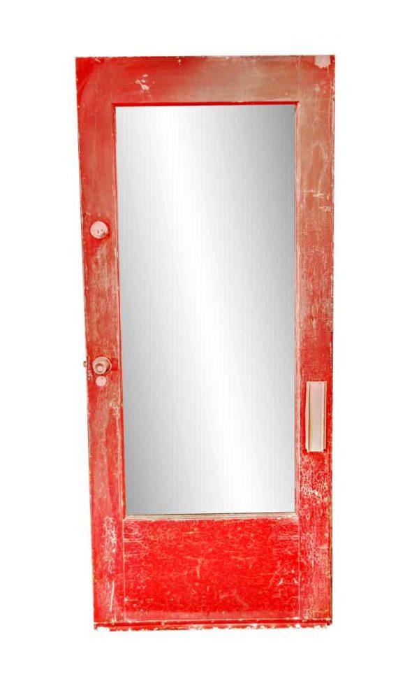 Entry Doors - Antique Plexiglass Panel Wood Entry Door 82.875 x 35.875