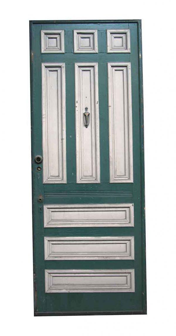 Entry Doors - Victorian 9 Pane Pine Entry Door 95 x 36