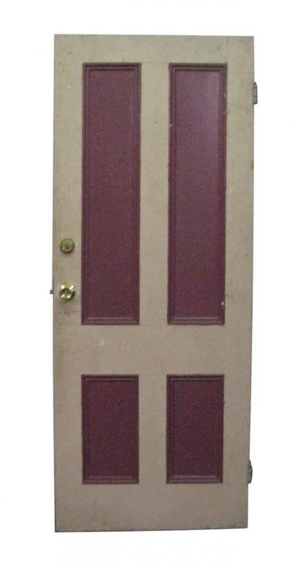 Entry Doors - Vintage 4 Pane Wood Entry Door 80.5 x 32