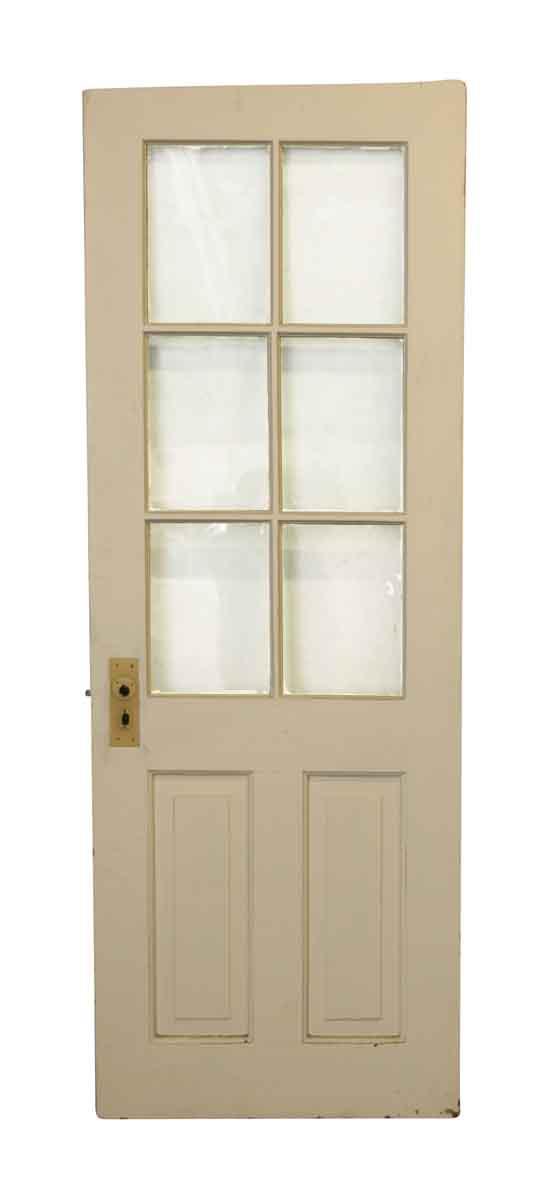 Entry Doors - Vintage 6 Lite 2 Pane Wood Entry Door 81.5 x 29.5