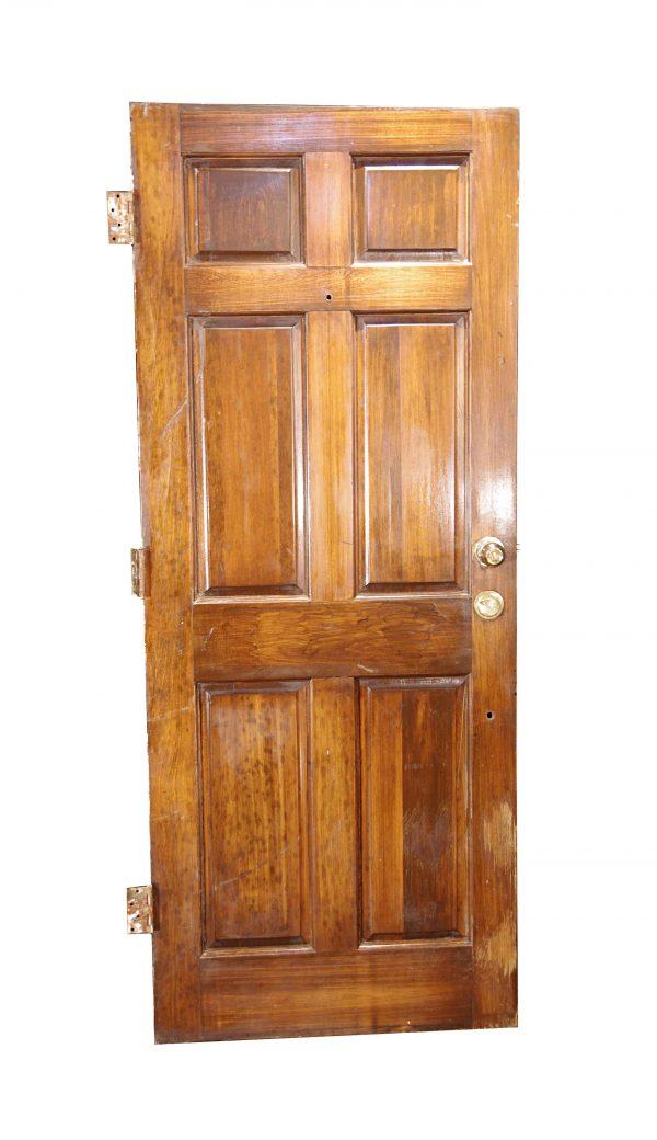Entry Doors - Vintage 6 Pane Wood Entry Door 79.875 x 31.75