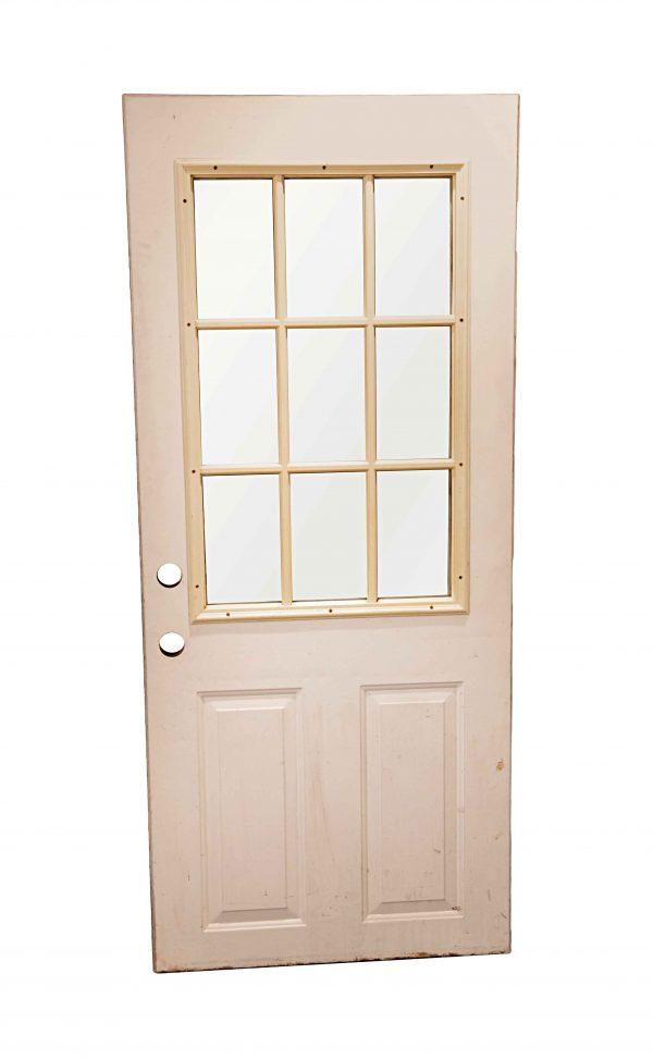 Entry Doors - Vintage 9 Lite Wood Entry Door 73.5 x 31.625