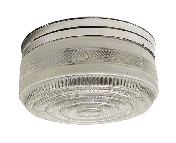 Flush & Semi Flush Mounts - 1950s Clear Glass Round Chrome 10 in. Kitchen Flush Mount