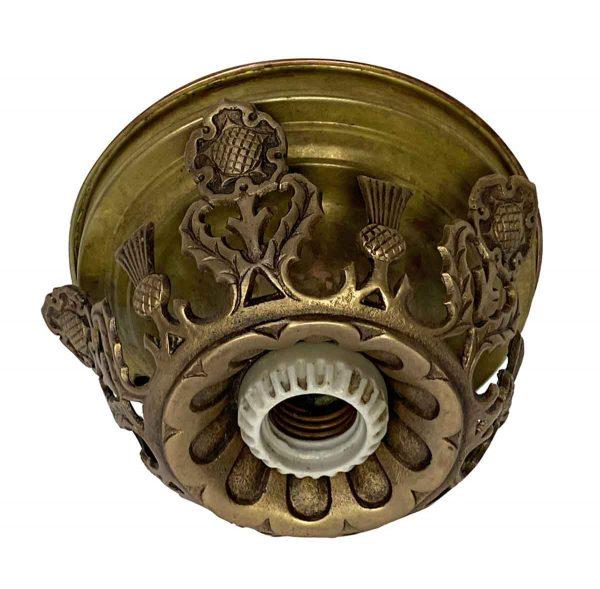 Flush & Semi Flush Mounts - Gothic Tudor Style Single Bulb Light Flush Mount