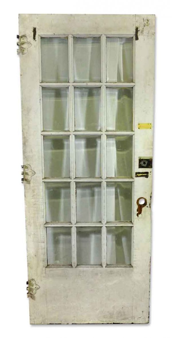 French Doors - Antique 15 Beveled Glass Lite French Door 84 x 37.875