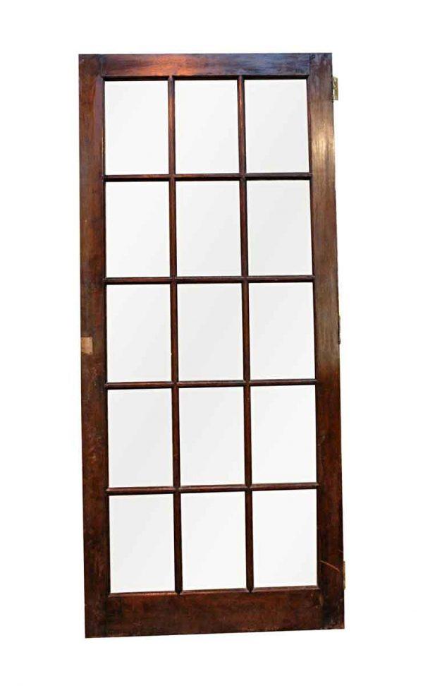 French Doors - Antique 15 Lite Birch French Door 76 x 33.5