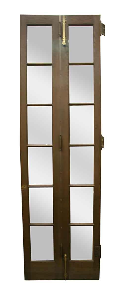 French Doors - Antique Oak 6 Lite French Bifold Doors