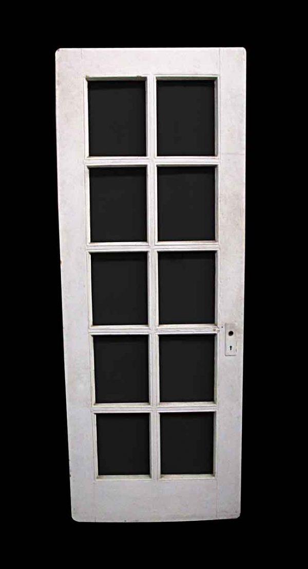 French Doors - Vintage 10 Lite Pine French Door 81 x 30