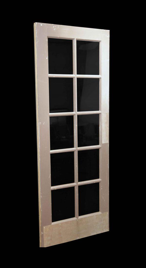French Doors - Vintage 10 Lite Wood French Swing Door 79.125 x 29.5