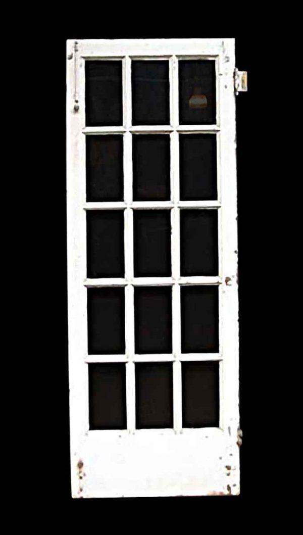 French Doors - Vintage 15 Lite White Oak French Door 80.25 in. H x 29.5