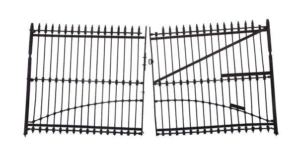 Gates - 1800s 12 ft. x 6 ft. Forged Iron Dual Driveway Gates