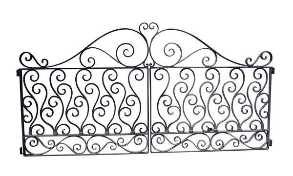 Gates - Antique 10 ft. x 5 ft. Wrought Iron Dual Driveway Gates